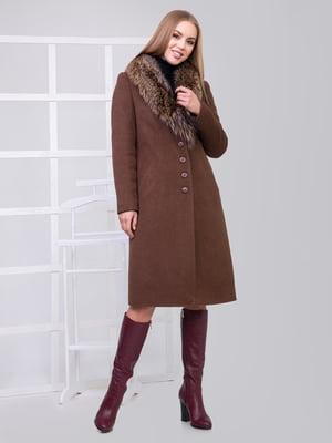 Пальто шоколадного кольору | 4977382