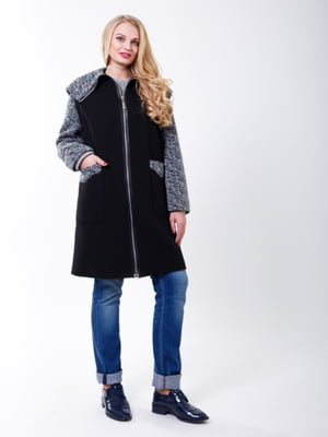 Пальто черно-сиреневого цвета | 5218972