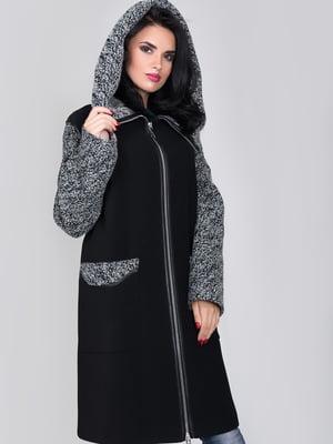 Пальто черно-зеленого цвета | 4977438