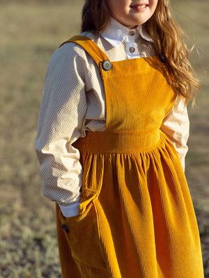 Сарафан горчичного цвета | 5219116