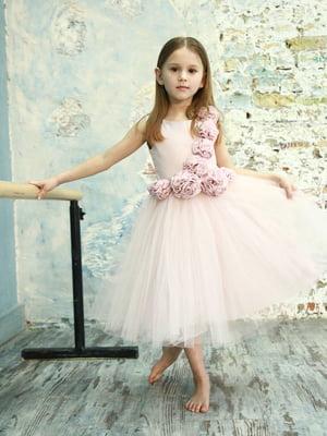 Сукня кольору пудри | 4141588
