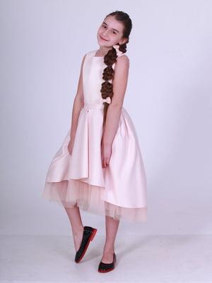 Сукня кольору пудри | 5219264