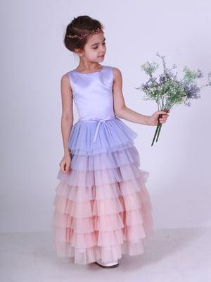 Платье лилово-персиковое | 5219271