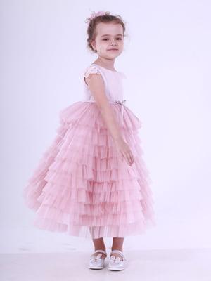Сукня кольору пудри | 5219280