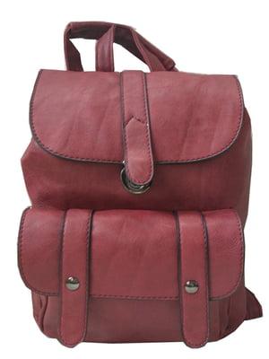 Рюкзак бордовий | 5219487