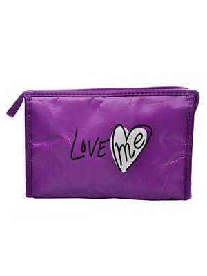 Косметичка фіолетова з принтом | 5219570