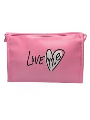 Косметичка рожева з принтом | 5219571