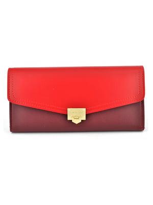 Гаманець червоно-бордовий | 5219656