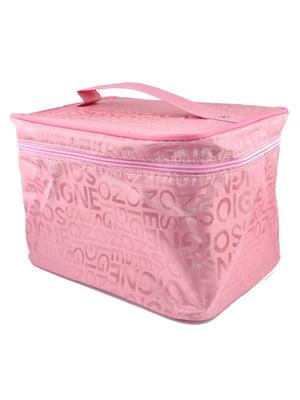 Косметичка рожева з принтом | 5219694