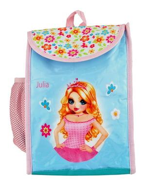 Рюкзак мятного цвета с принтом | 5219752