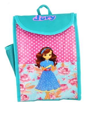 Рюкзак мятного цвета с принтом | 5219753