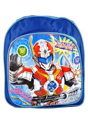 Рюкзак синий с принтом | 5219755