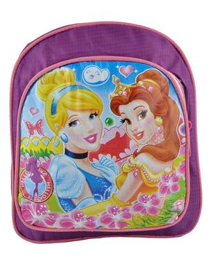 Рюкзак бузковий з принтом   5219756