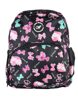 Рюкзак чорний з принтом | 5219760