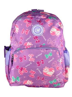 Рюкзак фіолетовий з принтом | 5219763