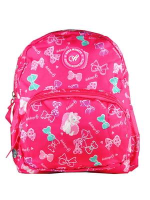 Рюкзак малиновий з принтом | 5219766