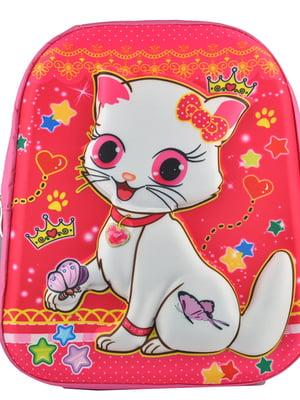 Рюкзак розовый с принтом | 5219771