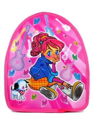 Рюкзак розовый с принтом | 5219780