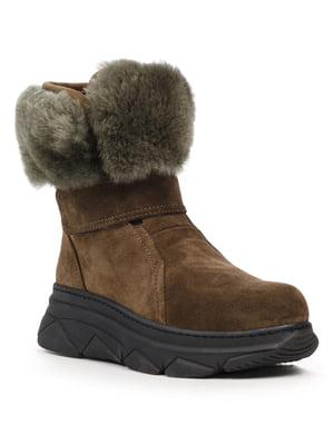 Ботинки цвета хаки | 5215574