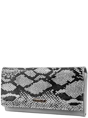 Кошелек серый с анималистическим принтом | 5220606
