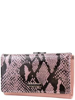 Кошелек розовый с анималистическим принтом | 5220612