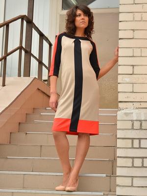 Платье трехцветное | 1700385