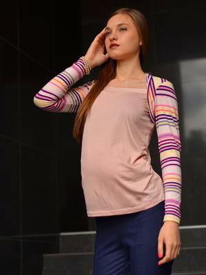 Блуза розовая в полоску | 1773166
