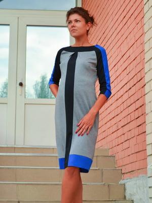 Сукня сіра з контрастними вставками | 1773171