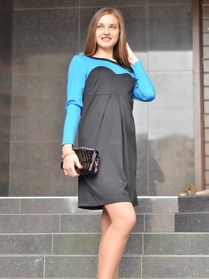 Сукня чорно-блакитна | 1773413