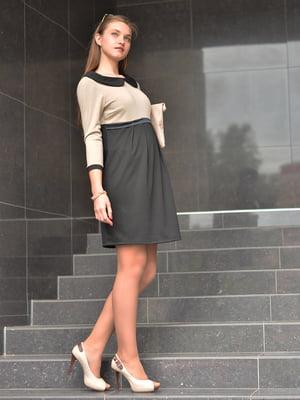 Сукня чорно-бежева | 1773414