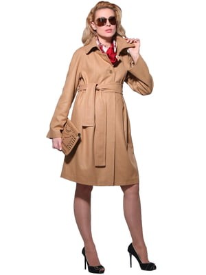 Пальто світло-коричневе | 1823011