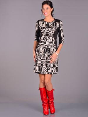 Сукня чорна в написи | 1962172
