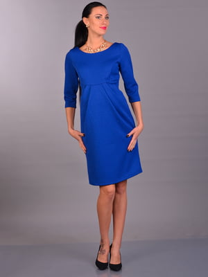 Платье цвета электрик с рисунком | 2006355