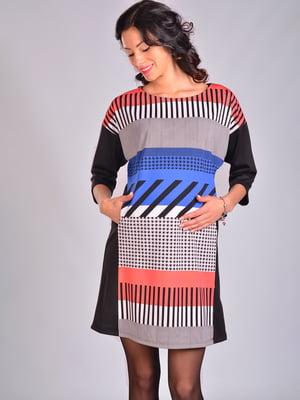 Платье в разноцветный принт | 2112089