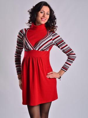 Платье красное в полоску | 4860257