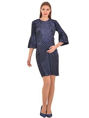 Сукня синя з принтом | 5221082