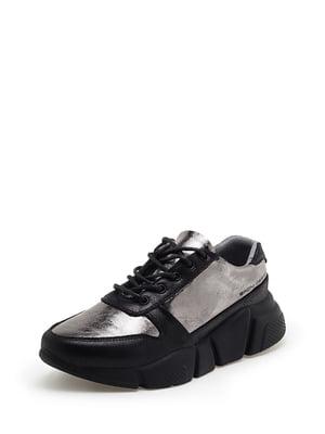 Кроссовки черно-серебристые | 5221118