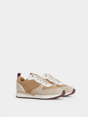 Кросівки бежево-коричневі | 5208830