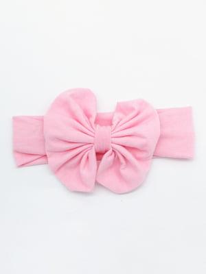 Повязка на голову розовая | 4679012