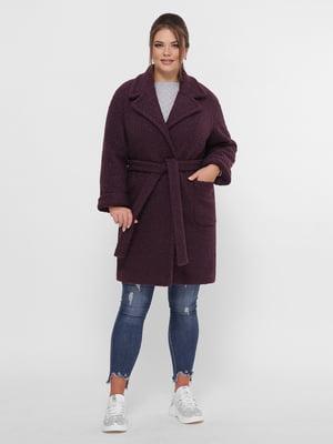 Пальто темно-фіолетове   5224199