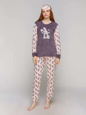 Піжама: лонгслів, штани та пов'язка на очі | 5221044