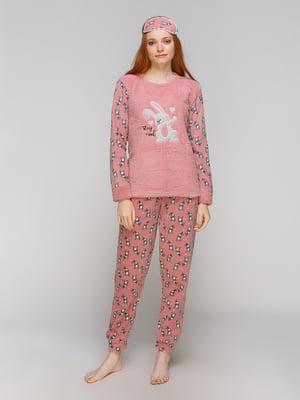 Піжама: лонгслів, штани та пов'язка на очі | 5221045