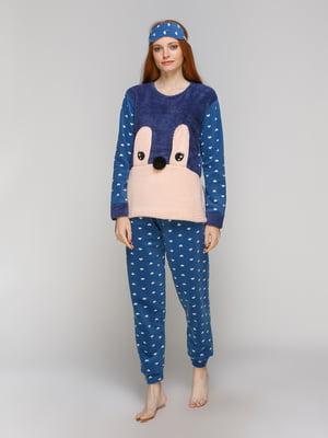 Піжама: лонгслів, штани та пов'язка на очі | 5221036