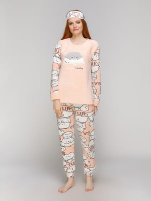 Піжама: лонгслів, штани та пов'язка на очі | 5221040
