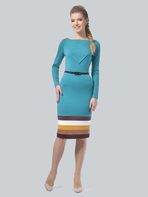 Платье бирюзовое | 5224261