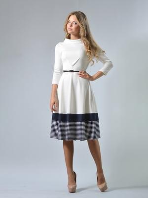 Сукня молочного кольору в гусячу лапку   5224270