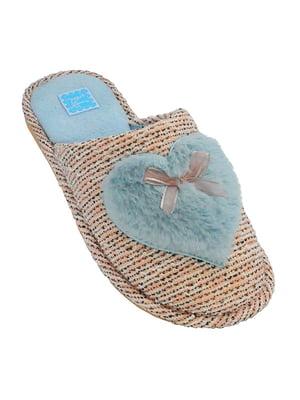 Тапочки кораллово-голубого цвета | 5225247