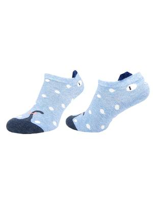 Шкарпетки блакитні з малюнком   5225982