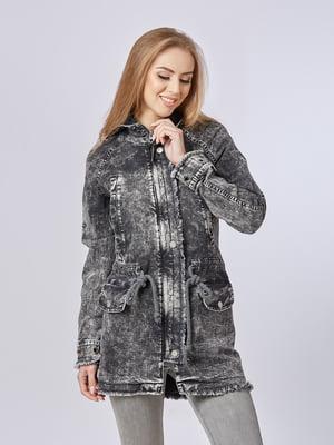 Куртка чорна джинсова | 5224701