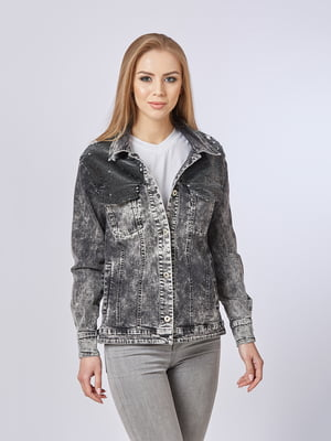 Куртка чорна джинсова | 5224706